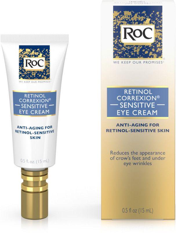 Roc Retinol Correxion Sensitive Eye Cream Retinol Eye Cream For Dark Circles Eye Cream