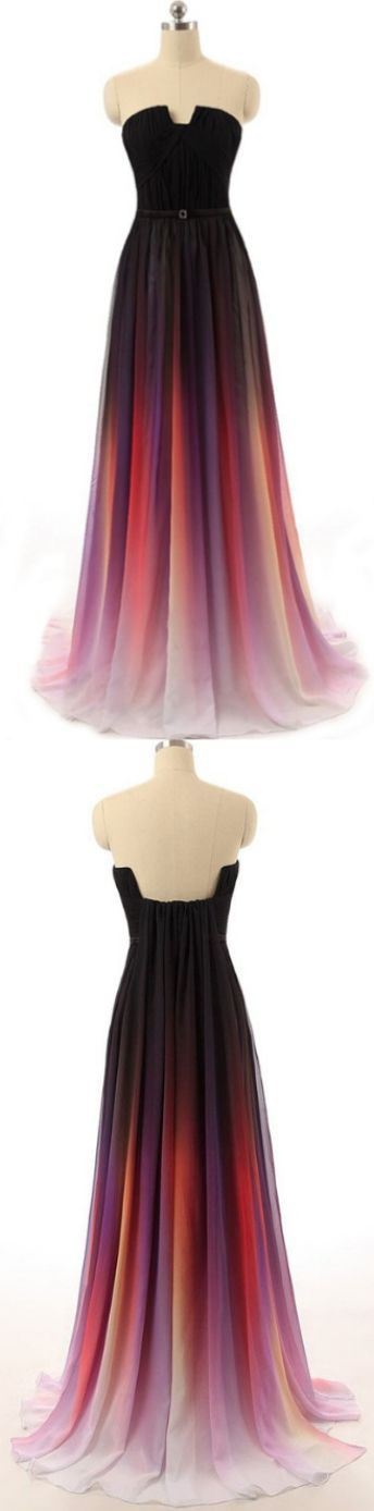 Long Prom Dresses, Discount Prom Dresses, Ombre Prom