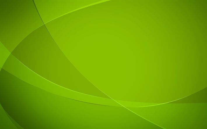 Download Wallpapers Green Waves Green Abstract Background 4k