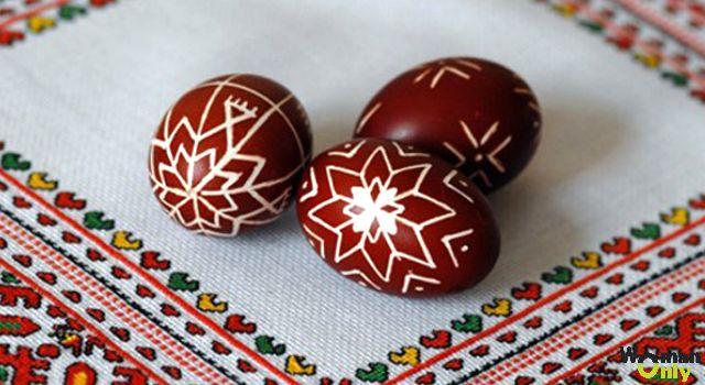 Роспись пасхальных яиц воском - писанки