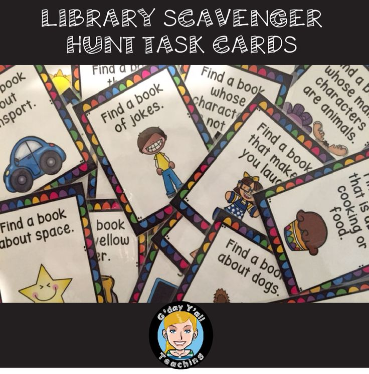 Library Scavenger Hunt Task Cards are a great way to get students searching for information and motivated about their library!
