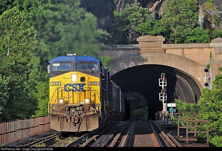 RailPictures.Net Photo: CSXT 553 CSX Transportation (CSXT) GE AC4400CW at Harpers Ferry, West Virginia by Ed Wolfe
