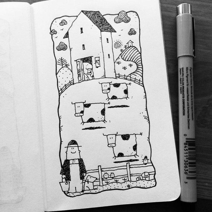 Dave Garbot — Morning Exercise #illustration #drawing #penandink...