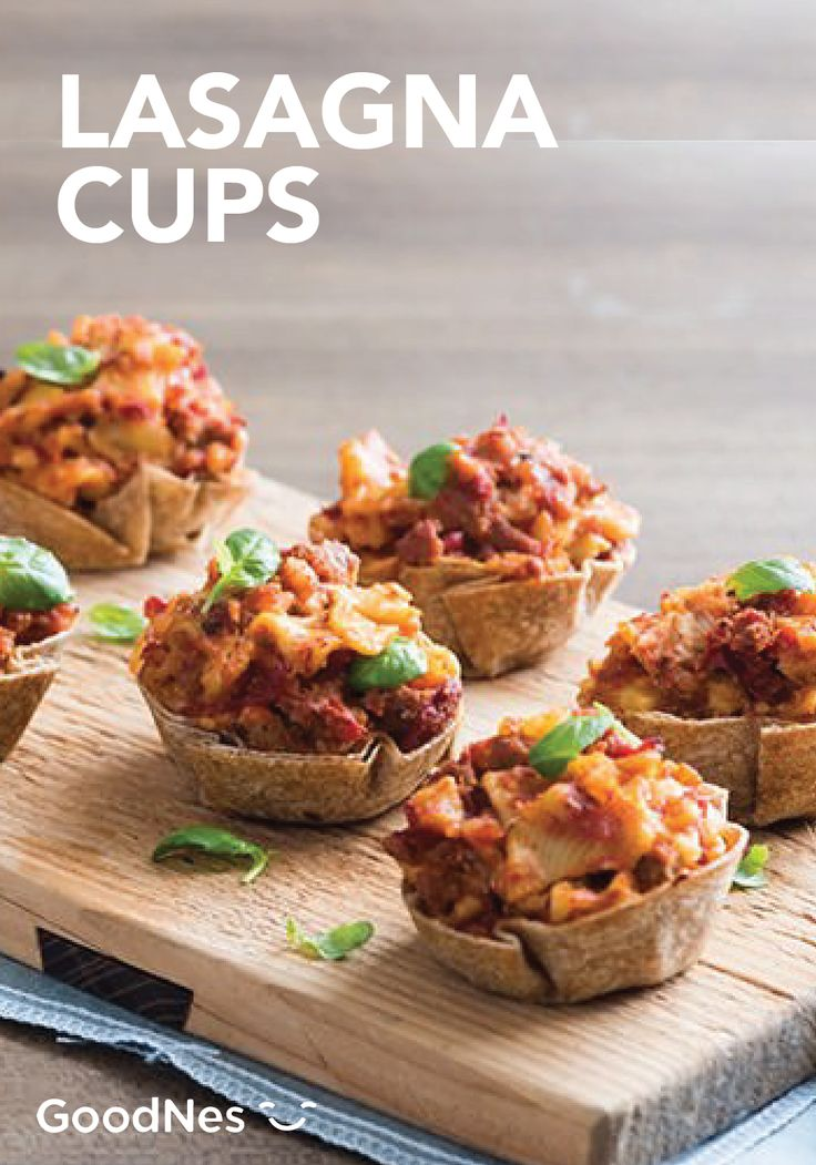 Celebrate game day with great friends and great food. Cheer on your team while enjoying this recipe for Lasagna Cups featuring Stouffer's® Lasagna. This tasty bite-size appetizer is sure to be enjoyed by all.