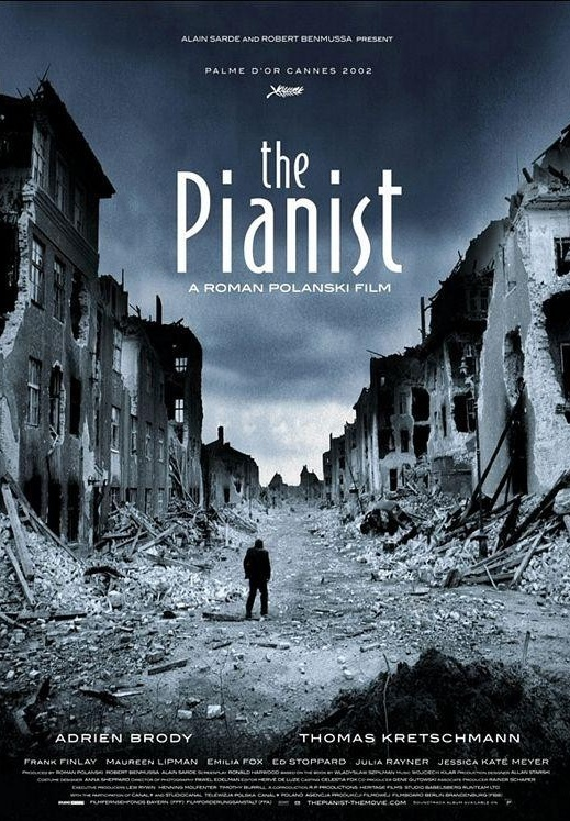 Title: The Pianist  Original title: The pianist  Address: Roman Polanski  Country: France, United Kingdom, Germany, Poland  Year: 2002  Duration: 150 min.  Genre: Drama, War, Biography, Music