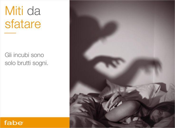 GLI INCUBI SONO SOLO BRUTTI SOGNINon banalizziamoli. In realtà fanno parte di una serie di disordini del sonno chiamati parasonnie: come sonnambulismo, bruxismo (digrignare i denti) e parlare mentre si dorme. #miti #da #sfatare #consigli #fabe