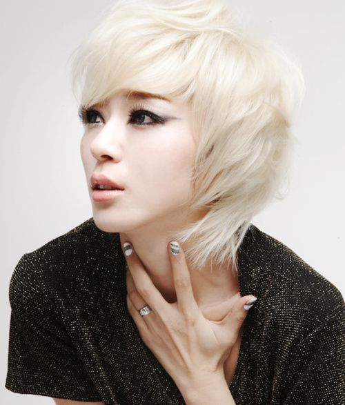Platinum Blonde Asian Inspiration Hair Color