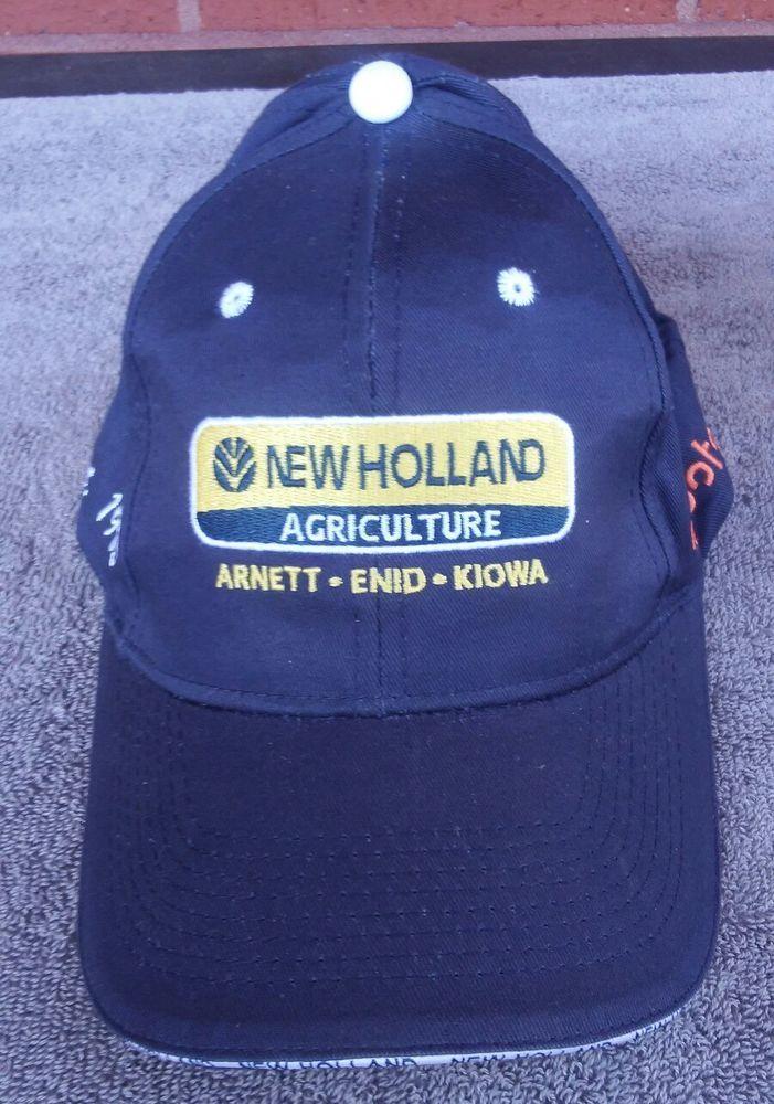 faf38e30 New Holland Tractor Kubota Agriculture Hat Cap Trucker Farm Blue Strapback # NewHolland #Trucker
