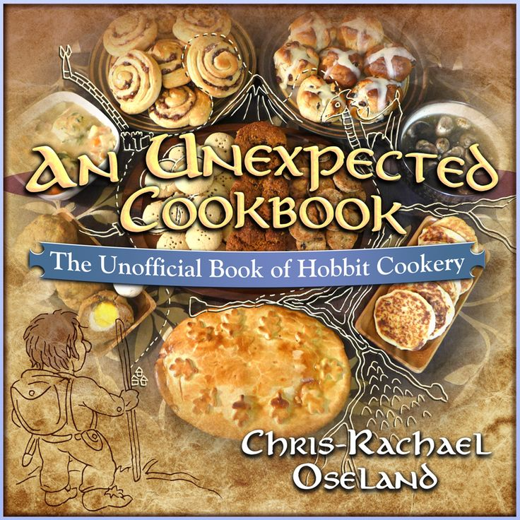 Chris-Rachael Oseland researched recipes for all of the seven daily meals Hobbits enjoy- breakfast, second breakfast, elevenses, luncheon, afternoon tea, supper, and dinner.