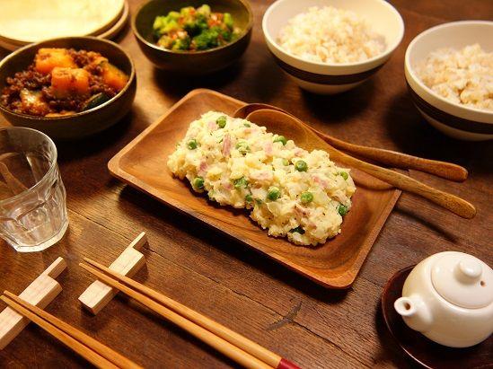 いつもの料理を和のスパイスでアレンジ~♪旬の春野菜で作る~!緑鮮やかホクホク☆グリンピースと新玉ねぎたっぷり!!!新じゃがジンジャーポテトサラダ2 -Recipe No.1608-