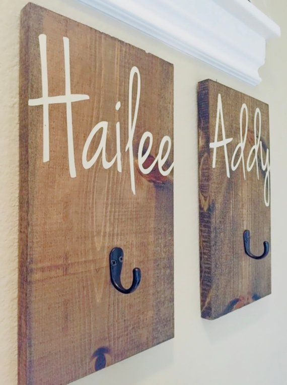 Add A Little Personalized Style To Your Home With One Of These Custom Name Hooks Whether You Are Kid Bathroom Decor Rustic Bathroom Decor Bathroom Towel Hooks