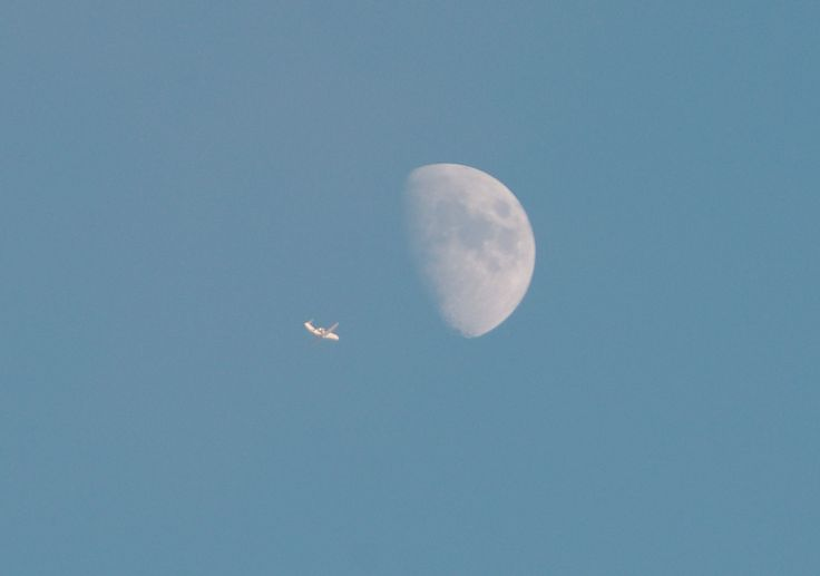 plane to moon