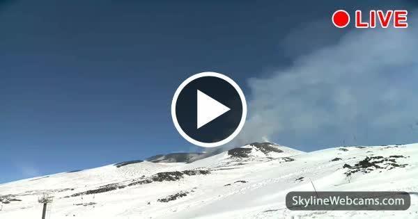 Live Eruption from Volcano Etna - Sicily
