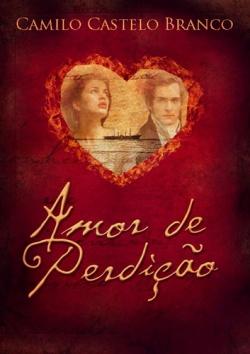 """Capa do livro """"Amor de Perdição"""" de Camilo Castelo Branco."""