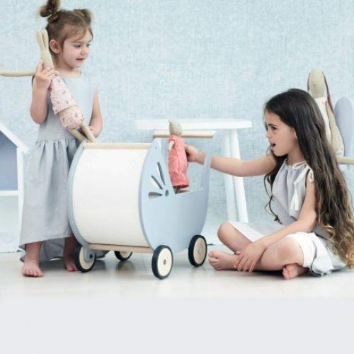 głęboki wózek dla lalek retro <3
