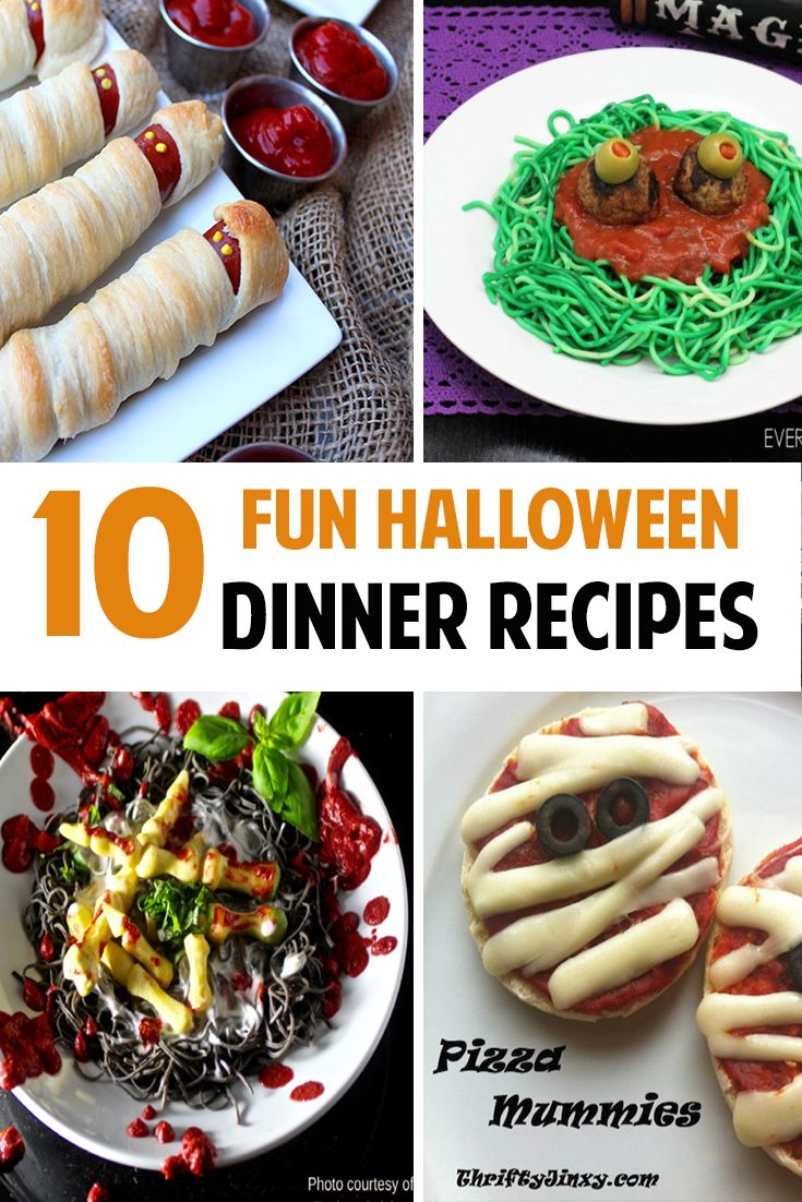 10 Fun Halloween Dinner Ideas for kids and adults!