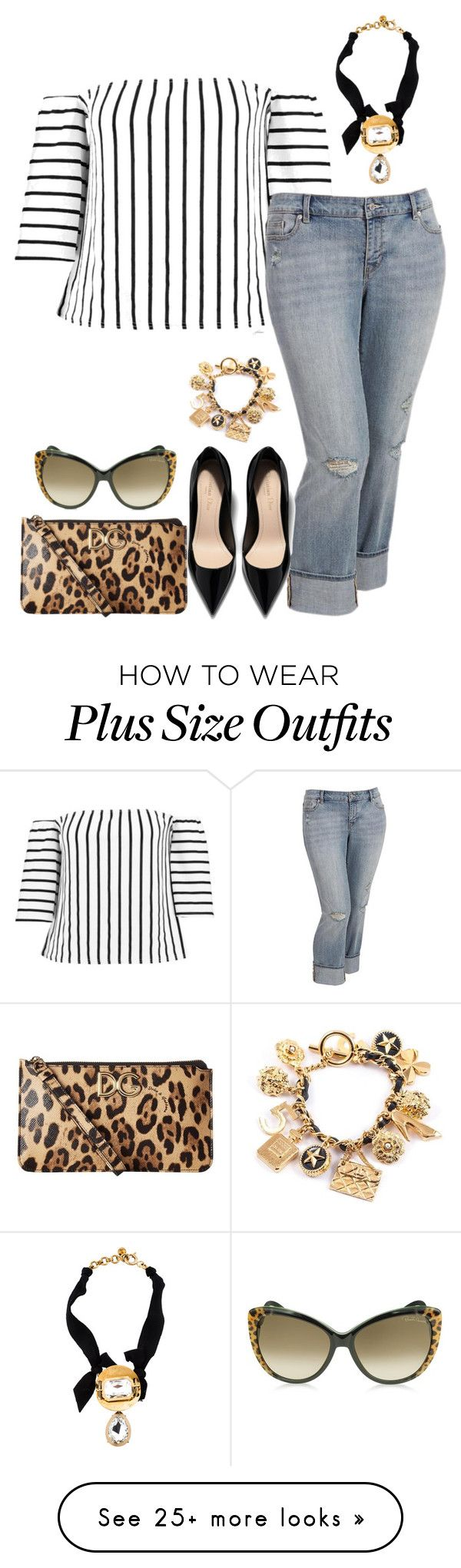 """Big girl hot- plus size"" by gchamama on Polyvore featuring Boohoo, Old Navy, Dolce&Gabbana, Roberto Cavalli, Chanel and Lanvin"