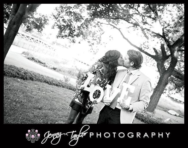 Wedding Photography Chicago | Cute Engagement Props | Jenny Taylor Photography