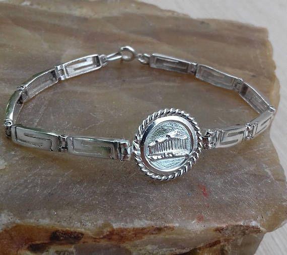 bracelet Greek meander silver 925 pantheon acropolis