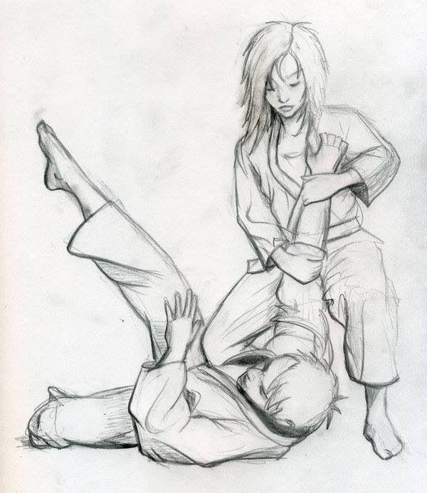 Bjj girls, bjj art, bjj sketch, Brazilian Jiu Jitsu, tough girls