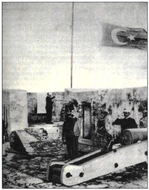 Υποστολή της τουρκικής σημαίας