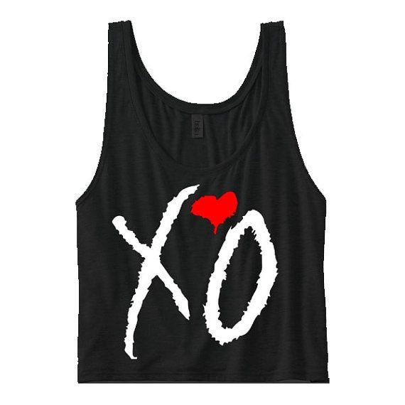 XO The Weeknd Clothing. xo tank. xo shirt. xo by KustomUnderground