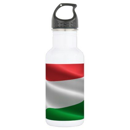 Hungarian Flag custom name water bottles - home gifts ideas decor special unique custom individual customized individualized