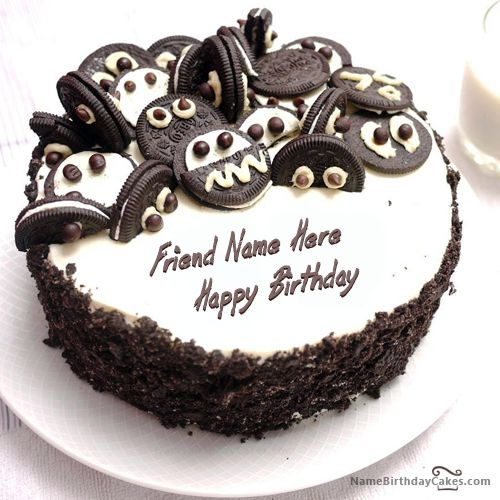 Write Name On Oreo Birthday Cake Picture