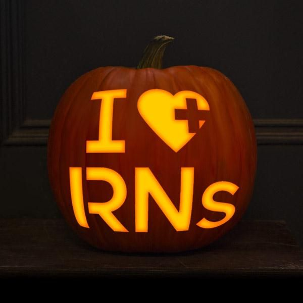 Click through to download this nursing jack o lantern