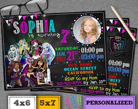 Monster High Invitation. Monster High Birthday by SmileInvitation