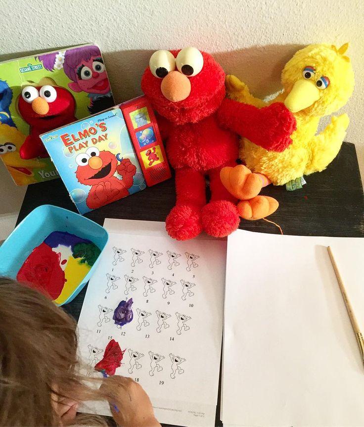 Happy 47th Birthday Sesame Street! . . . #teacherspayteachers #sesamestreet #sesamestreettheme #elmo #elmolover #bigbird #bigbirdyellow #toddler #toddleractivities #toddlercrafts #afterschool #preschooler #crafts #diy #learningthroughplay #letthembelittle