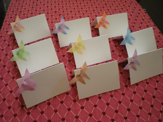 24 Origami butterfly wedding table escort place by OrigamiByWingy