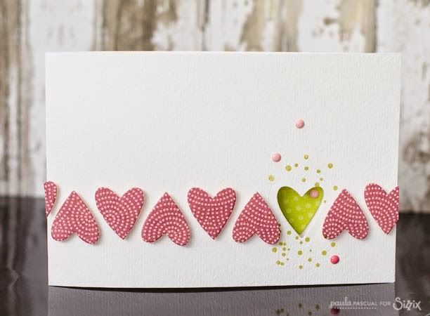 Crafting ideas from Sizzix UK: A clean and simple Congratulations card by Paula Pascual using the Big Shot Starter kit