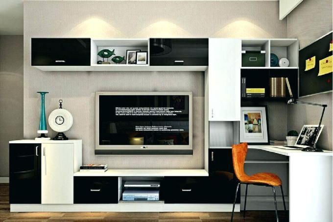 Entertainment Center Computer Desk Combo Amazing Home Ideas 10 In 2020 Desk Tv Stand Small Living Room Furniture Home