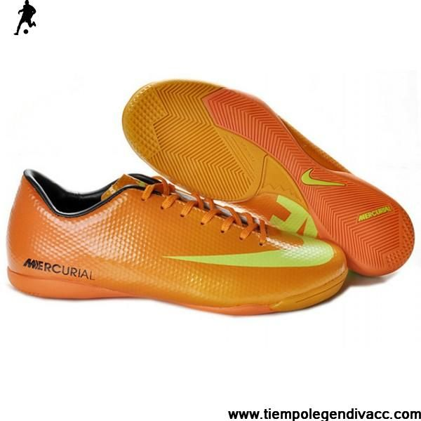 Sale 2012 2013 CR9 Nike Mercurial Victory IV IC Indoor Boots Orange Yellow Soccer Boots For Sale