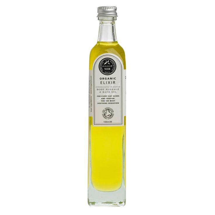 Økologisk massageolie Elixir med rosmarin & lavendel til aromaterapi