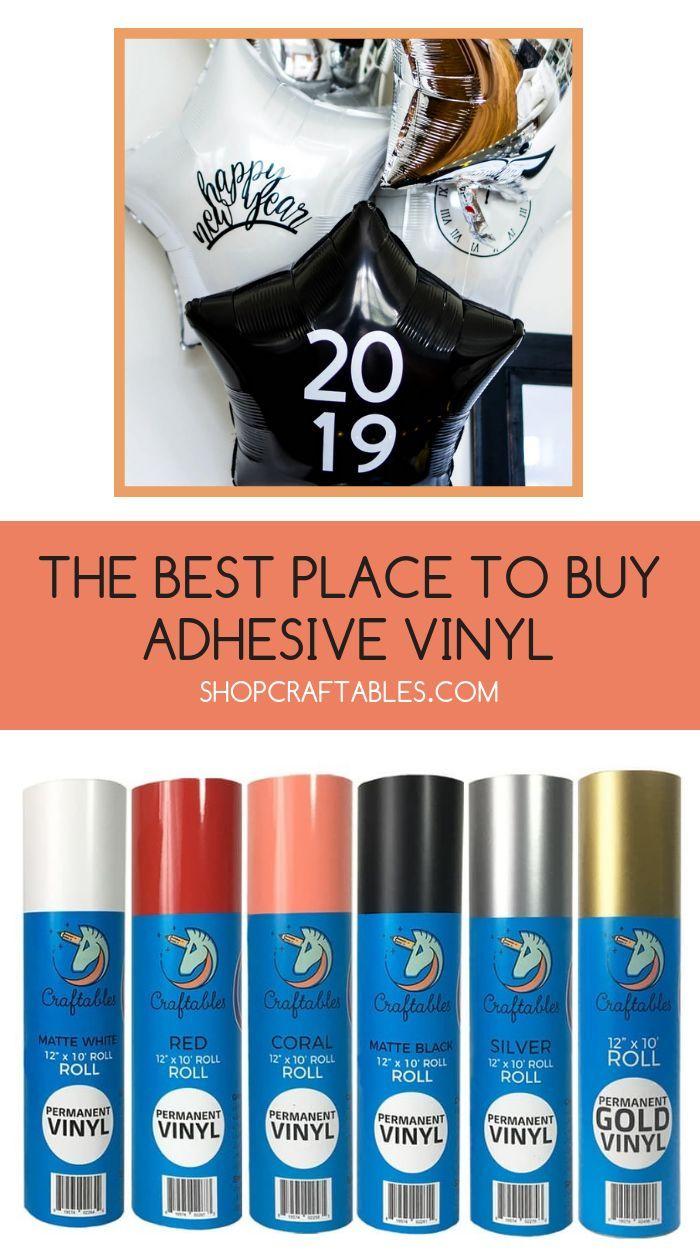 Adhesive Vinyl Rolls For Cricut Permanent Vinyl 12in X 10ft By Craftables Vinyl Rolls Vinyl Permanent Vinyl