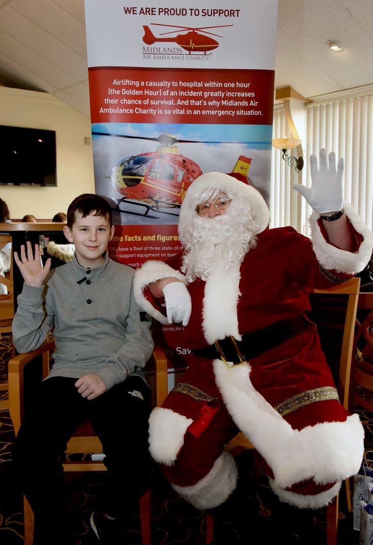 Adam Parker from Cannock Meet santa, Midlands, Charity