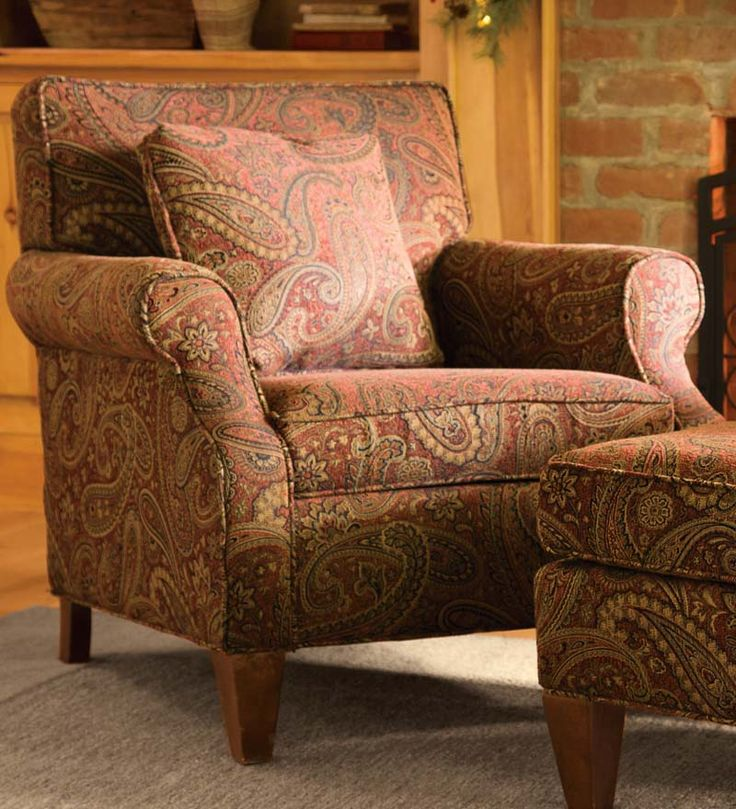 Plow And Hearth Furniture: USA-Made Bedford Collection Upholstered Club Chair At Plow