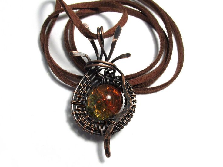 #glass #orange #green #copper #wire #wrapped #wrapping #wirewrapped #wirewrapping #necklace #pendant #pendent #neckless #small #unique #unusual #uncommon #small #little #tiny #jewelry #jewellery #handmade #marketplace #shop #seller #shopper #shopping #sale #etsy #vinta