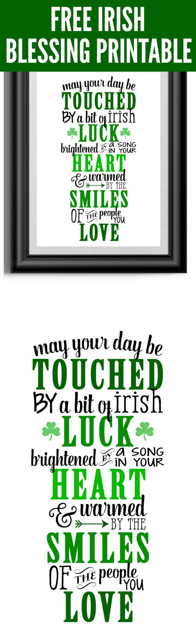 Free Irish Blessing Printable Art | Pretty My Party