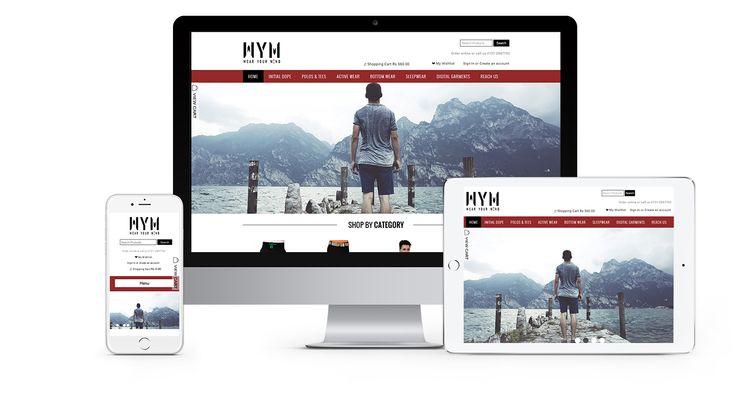 Wear your mind wym_showkess.  #EcommerceWebsite #Wocommerce #WebsiteDesign #CMS #Wordpress #Html5 #Responsive