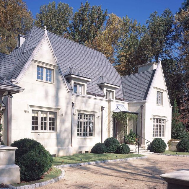 Stucco Stone Home Exterior White Cream Grey Gray