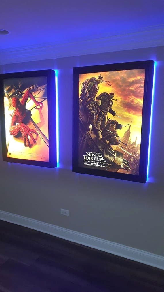 This Is A Large Frame Poster Box With A Colored Led Halo Around The Back Of The Frames Comes With White Rep Light Box Display Home Theater Setup Led Light Box