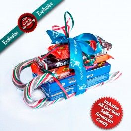 Posh American Candy Christmas Sleigh Gift - UK Sweet Shop | Retro Sweets Online | Sweet Hampers | American Candy