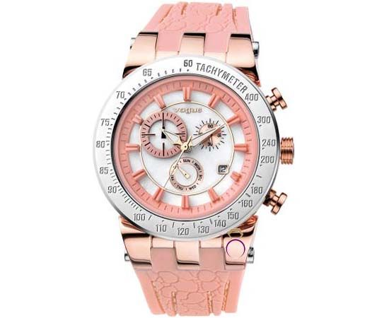 Nude rubber strap by Vogue Watches only 180€! http://www.a-kosmima.gr/products/rologia/vogue-chronograph-dark-salmon-rubber-strap-detail.html