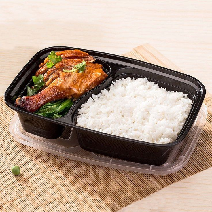 10Pcs/Set Disposable Plastic Lunch Box Microwave Takeaway Packing Food Container