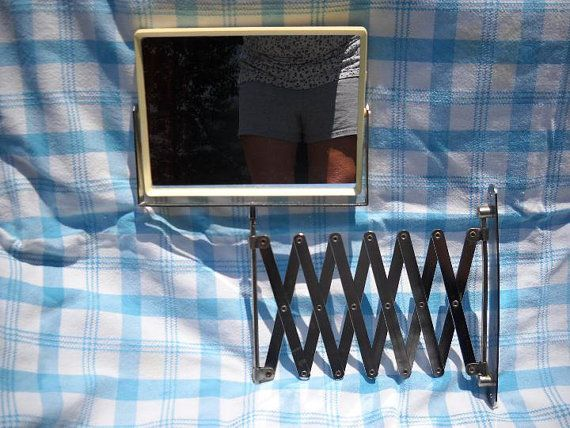 Vintage Chrome Extendable Shaving Mirror by notjustknots on Etsy, $30.00