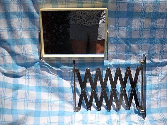 Vintage Chrome Extendable Shaving Mirror by notjustknots on Etsy, $30.00