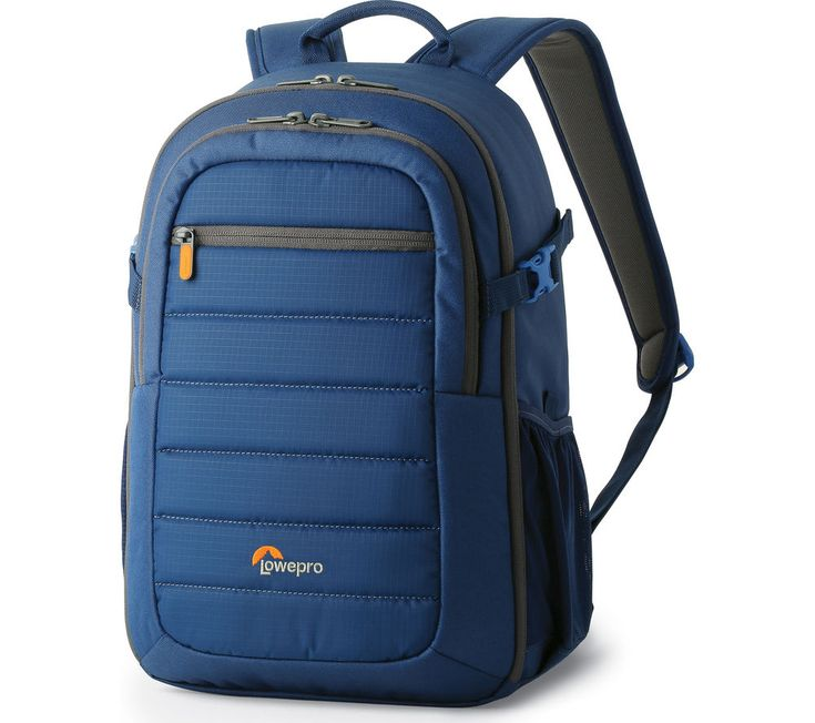LOWEPRO  Tahoe BP 150 DSLR Camera Backpack – Blue, Blue Price: £ 36.40 The attractive Lowepro Tahoe BP 150 DSLR Camera Backpack in blue is a practical and fun choice for photography fans who love travelling to photograph beautiful locations. Its weather-resistant materials help to protect your camera and tablet from the elements, whilst keeping them secure inside a padded pocket. Dividers...